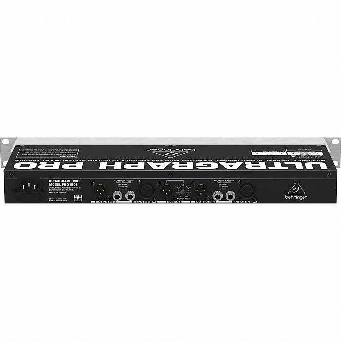 BEHRINGER - Behringer FBQ1502 Pro Ultragraph Audiophile 15 Band Stereo Graphic Equalizer