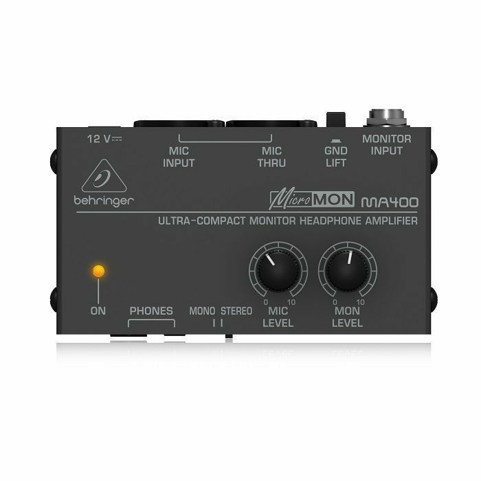 BEHRINGER - Behringer MA400 MicroMon Ultra Compact Monitor Headphone Amplifier