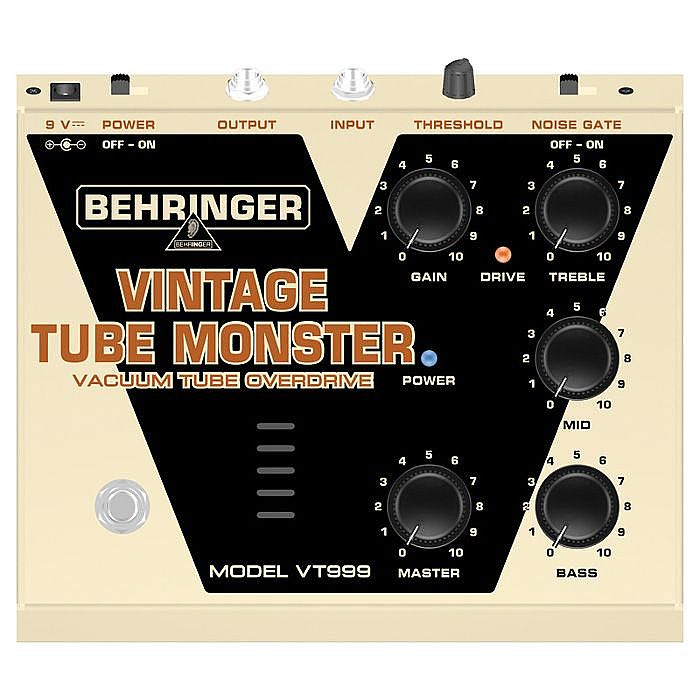 BEHRINGER - Behringer Vintage Tube Monster VT999 Classic Vacuum Tube Overdrive