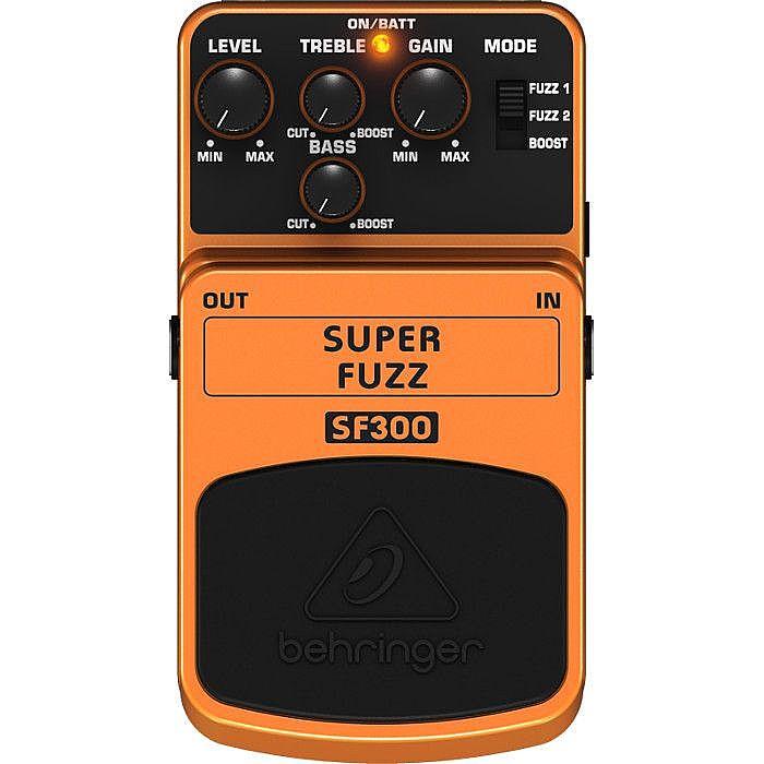 BEHRINGER - Behringer SF300 Super Fuzz 3 Mode Fuzz Distortion Effects Pedal