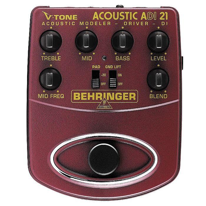 BEHRINGER - Behringer ADI21 V Tone Acoustic Driver DI Acoustic Amp Modeler/Direct Recording Preamp/DI Box