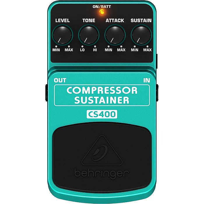 BEHRINGER - Behringer CS400 Compressor/Sustainer Ultimate Dynamics Effects Pedal