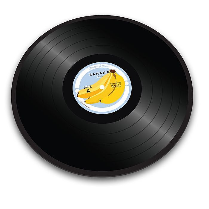 JOSEPH JOSEPH - Joseph Joseph Banana Vinyl Record Worktop Saver Chopping Board