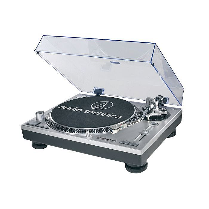AUDIO TECHNICA - Audio Technica LP120 USB C Turntable With HS10 Headshell/AT95E Cartridge & Audacity Audio Production Software (silver)