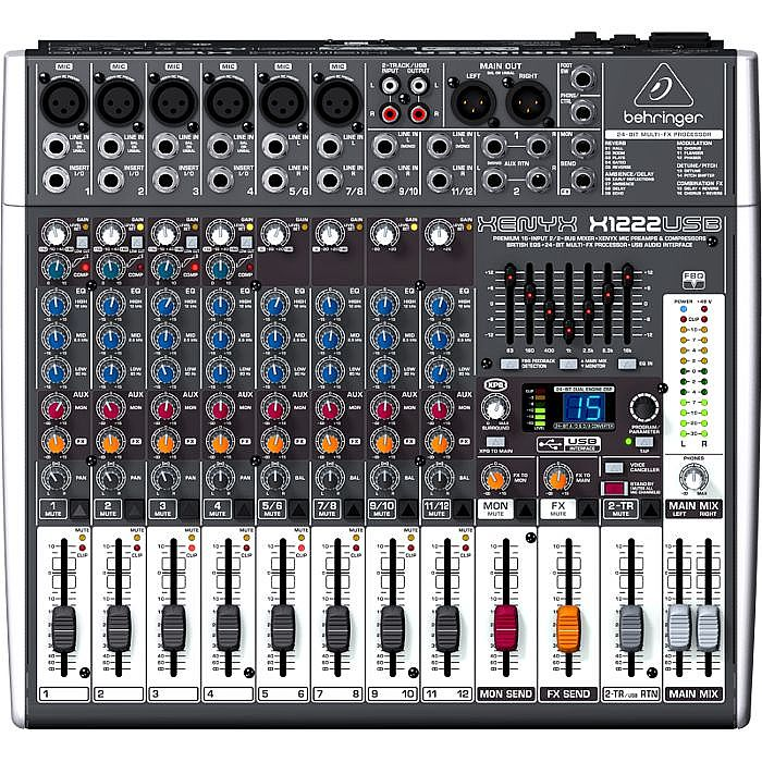 BEHRINGER - Behringer X1222 USB Xenyx 16 Channel Mixer + Tracktion 4 Audio Production Software (B-STOCK)