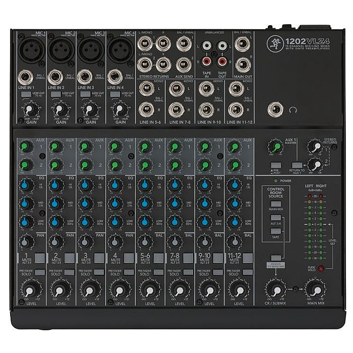 MACKIE - Mackie 1202VLZ4 12-Channel Compact Mixer