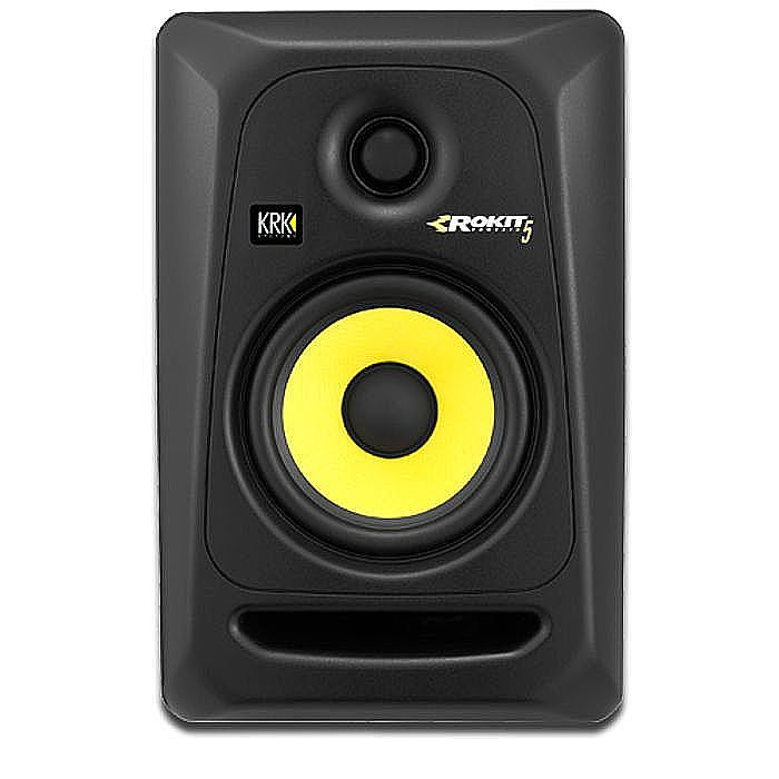 KRK - KRK Rokit RP5 G3 Active Studio Monitor Speaker (single, black with yellow cone)