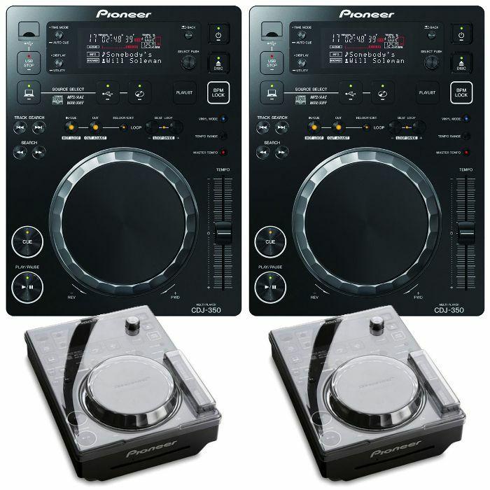 PIONEER - Pioneer CDJ350 Digital Multi CD USB Players (black, pair) + FREE Decksaver Pioneer CDJ350 Covers (pair)