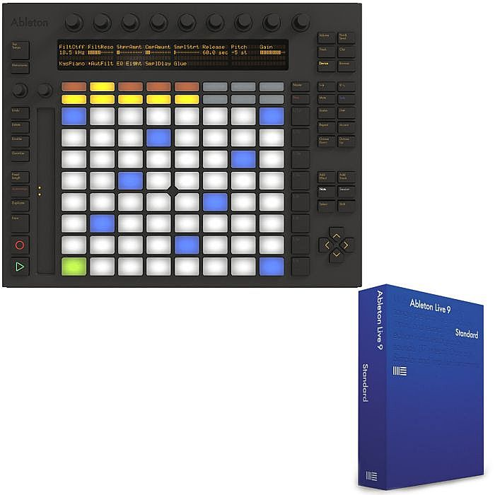 ableton ableton push instrument with ableton live 9 intro ableton live 9 standard edition. Black Bedroom Furniture Sets. Home Design Ideas