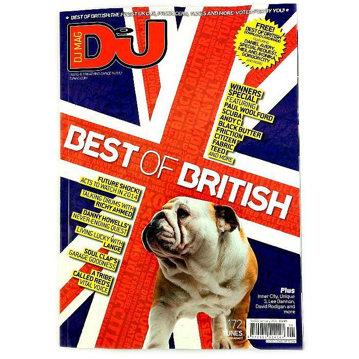 DJ MAGAZINE - DJ Magazine January 2014: #529 Drool Britannia (with FREE best of British download card)