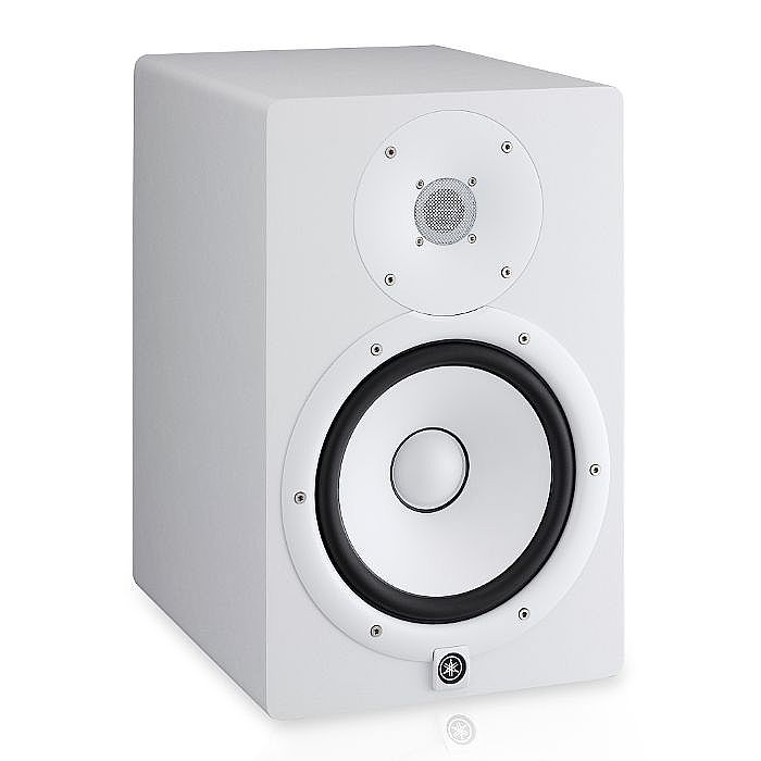 Yamaha yamaha hs8 powered studio monitor white single for Yamaha powered monitor speakers