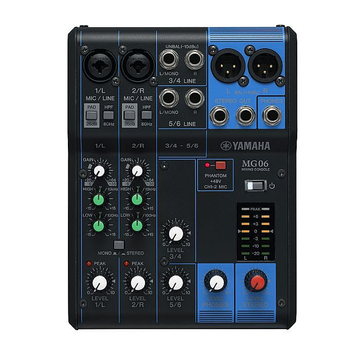 YAMAHA - Yamaha MG06 Analog Mixer