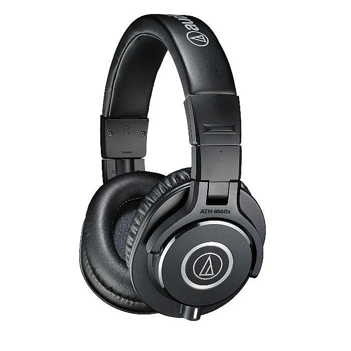 AUDIO TECHNICA - Audio Technica ATH-M40X Headphones (black, includes interchangeable straight & coiled cables)