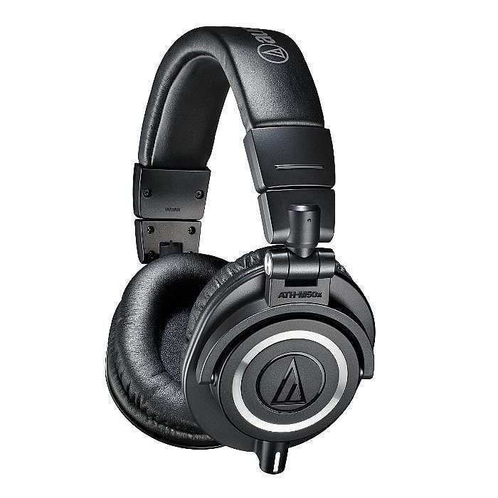 AUDIO TECHNICA - Audio Technica ATH M50X Headphones (black, includes interchangeable straight & coiled cables)