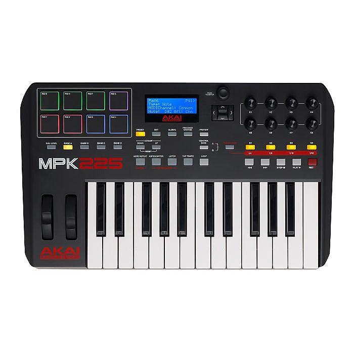 akai akai mpk225 performance usb midi pad keyboard controller with ableton live lite software. Black Bedroom Furniture Sets. Home Design Ideas