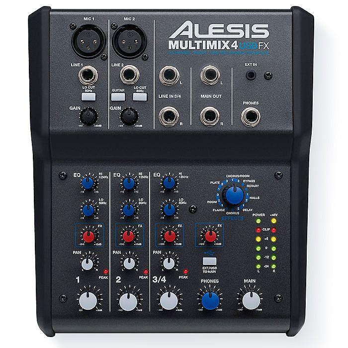 ALESIS - Alesis Multimix 4 USB FX 4 Channel Mixer With Cubase 7 LE Audio Production Software