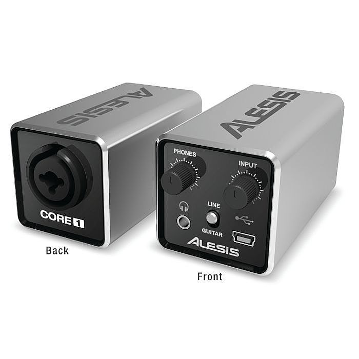 ALESIS - Alesis Core 1 Inline USB Audio Interface With Cubase LE Audio Production Software