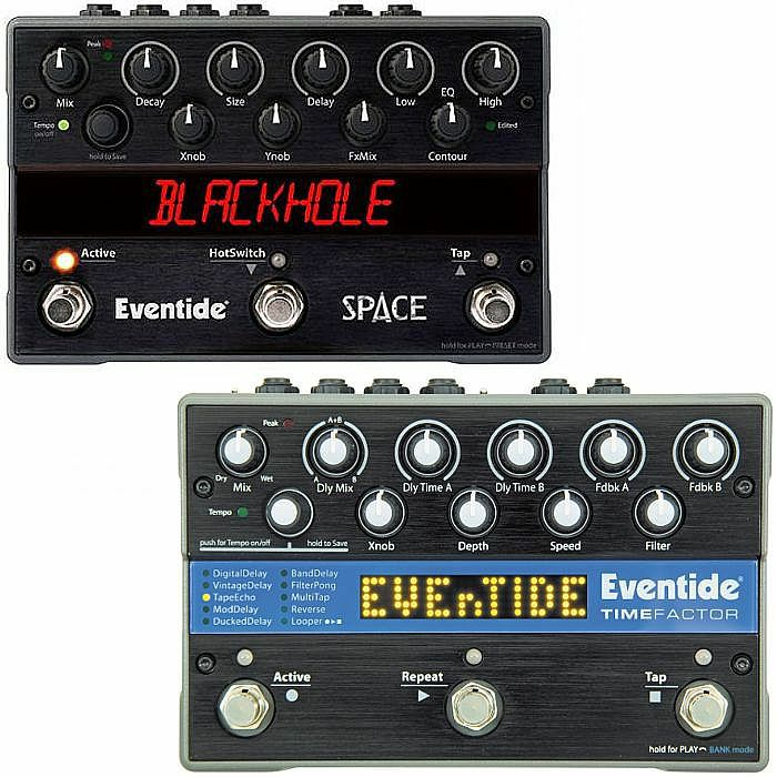 EVENTIDE - Eventide Space Programmable Reverb Effects Pedal + Eventide TimeFactor Twin Delay Effects Pedal (REDUCED PRICE BUNDLE)