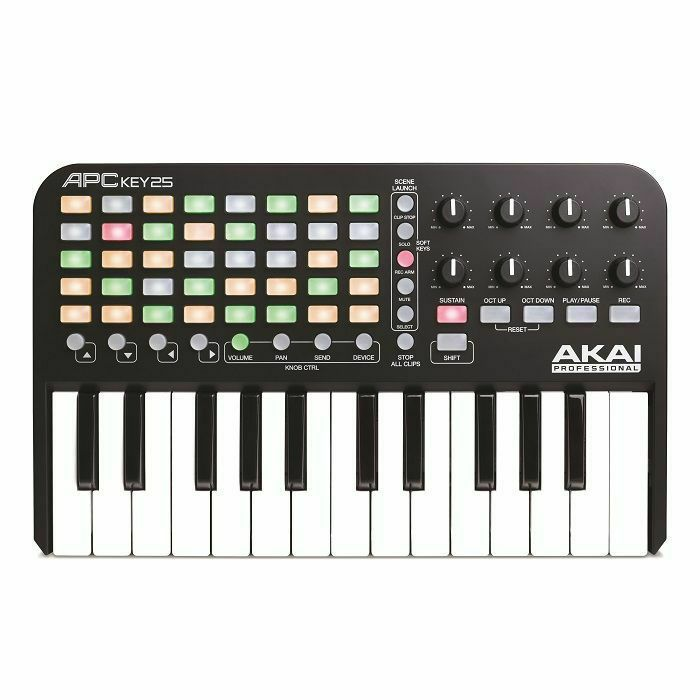 AKAI - Akai APC Key 25 Ableton Live Keyboard Controller With Ableton Live Lite Software