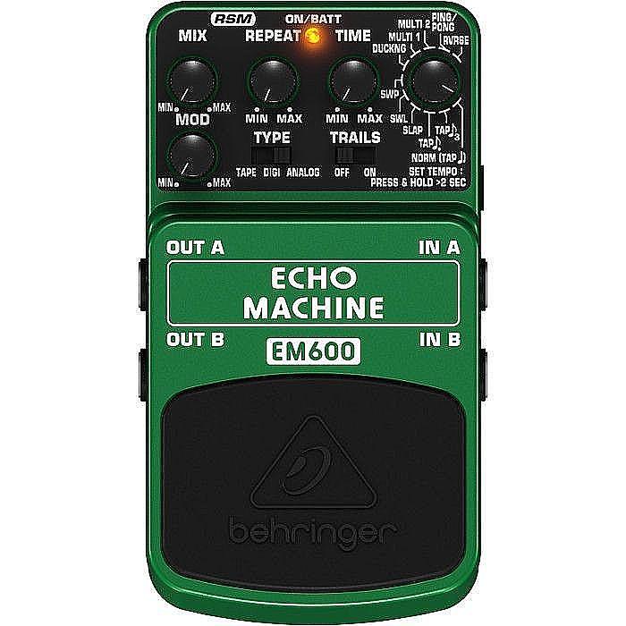 BEHRINGER - Behringer EM600 Echo Machine Ultimate Echo Modeling Effects Pedal (B-STOCK)