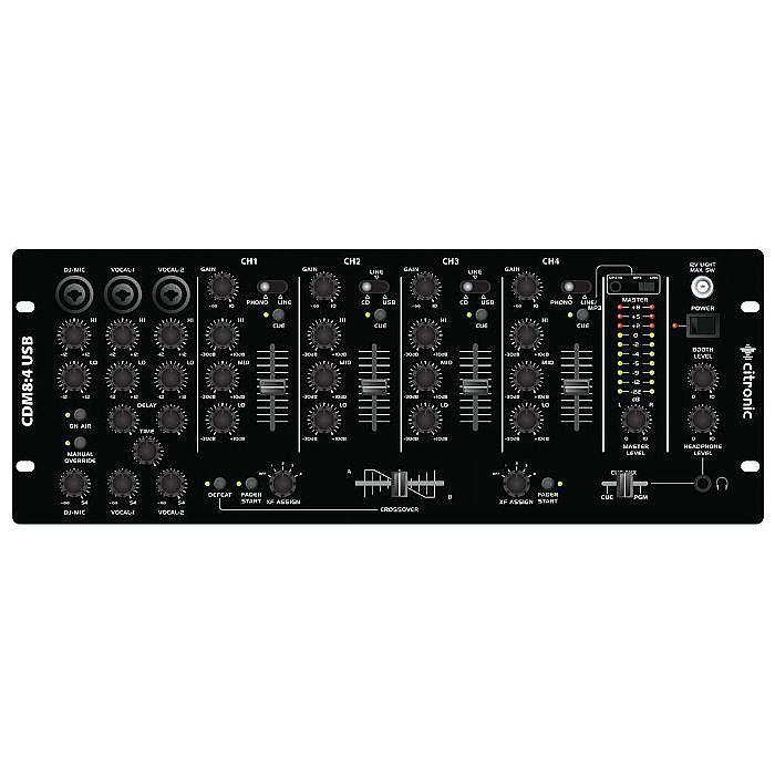 CITRONIC - Citronic CDM8:4 USB DJ Mixer