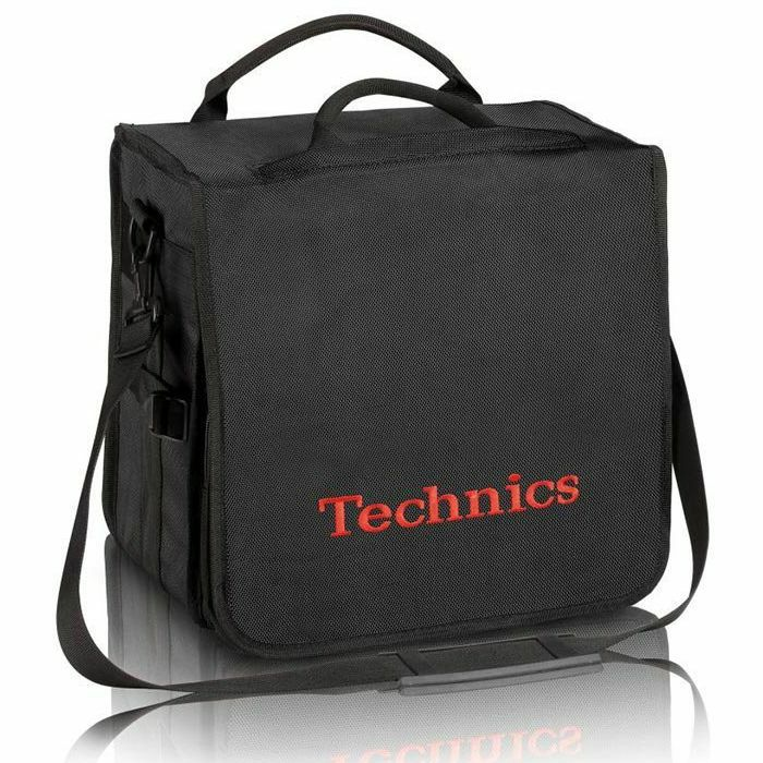 TECHNICS - Technics Backpack 12 Inch LP Vinyl Record Bag (black with red logo)