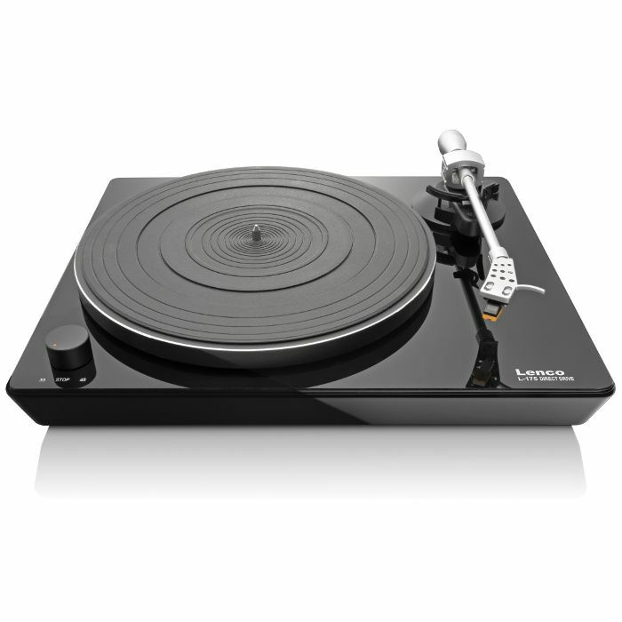 Lenco lenco l175 direct drive glass usb turntable vinyl at for Direct drive turntable motor