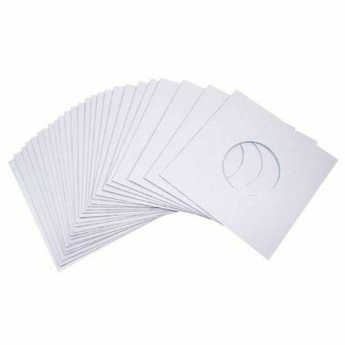 MUKATSUKU - Mukatsuku 10 Gram Quality 7 inch White Paper Inner Sleeves (pack of 50)