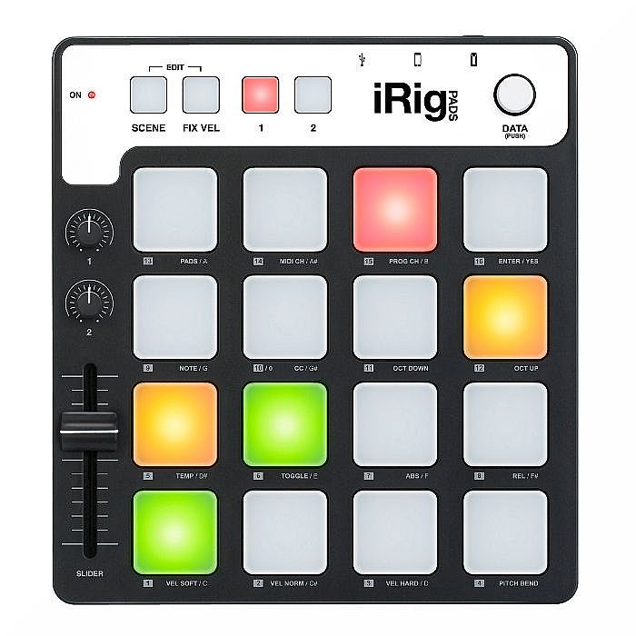 ik multimedia ik multimedia irig pads midi pad controller for ios mac pc with sampletank. Black Bedroom Furniture Sets. Home Design Ideas