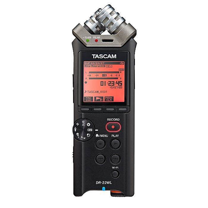 TASCAM - Tascam DR 22WL Portable Handheld Recorder With Wifi & 4GB MicroSD Card Included