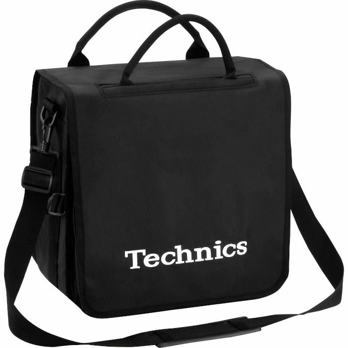 TECHNICS - Technics Backpack 12 Inch LP Vinyl Record Bag (black with white logo, holds up to 45 records)