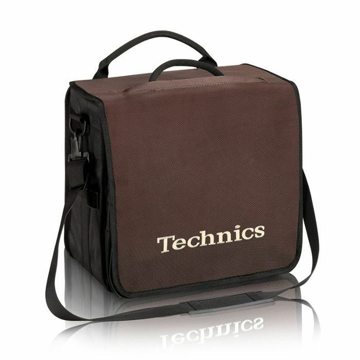 TECHNICS - Technics Backpack 12 Inch LP Vinyl Record Bag (brown with beige logo)