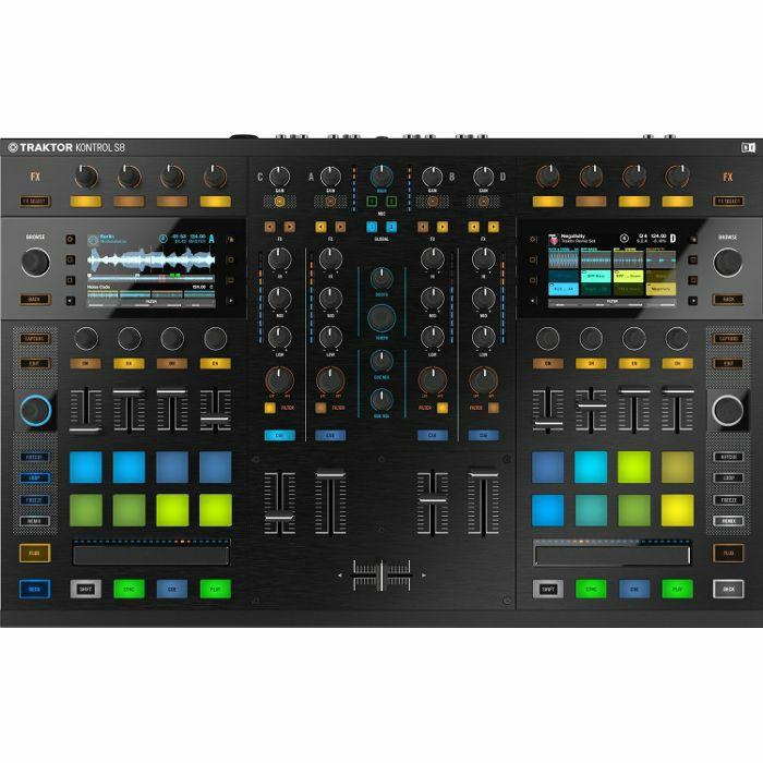 NATIVE INSTRUMENTS - Native Instruments Traktor Kontrol S8 DJ Controller With Traktor Scratch Pro DJ Software