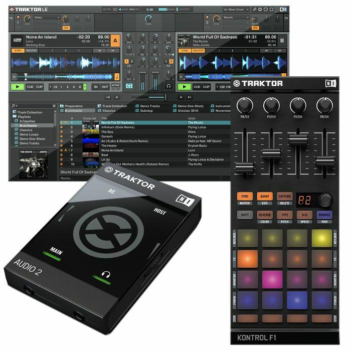 NATIVE INSTRUMENTS - Native Instruments Traktor Audio 2 MK2 Audio Interface With Traktor LE 2 DJ Software + Traktor Kontrol F1 DJ Remix Controller (SPECIAL LOW PRICE BUNDLE)
