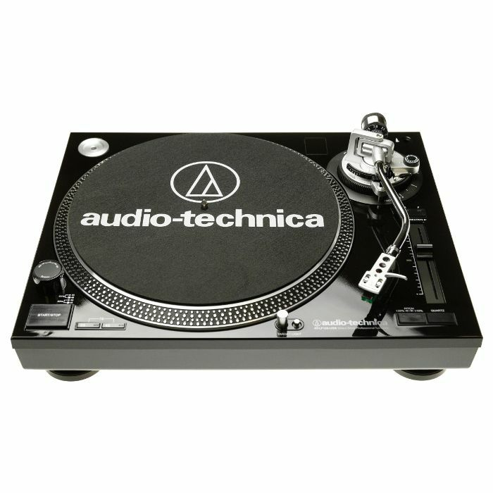 AUDIO TECHNICA - Audio Technica LP120 USB Turntable With AT95E Cartridge & Audacity Audio Production Software (high gloss black)