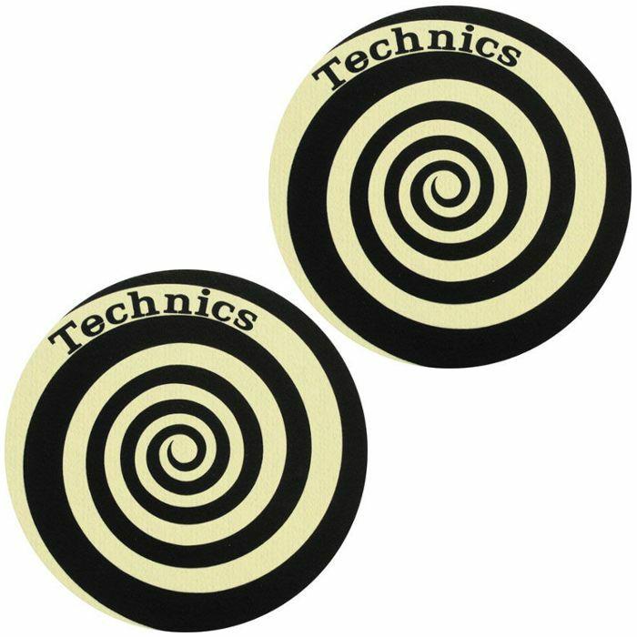 SLIPMAT FACTORY - Slipmat Factory Technics Spiral Slipmats (pair, glow in the dark)