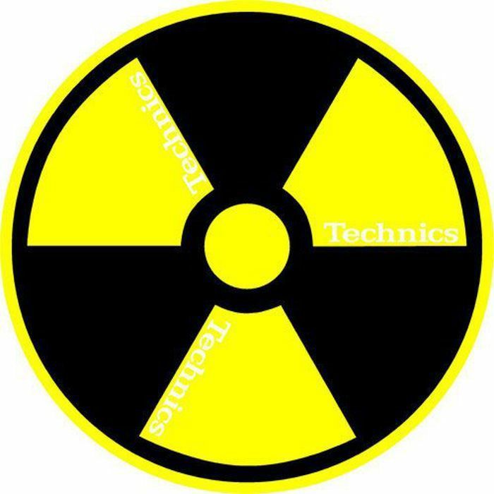 SLIPMAT FACTORY - Slipmat Factory Technics Radioactive Slipmats (pair, black/yellow)