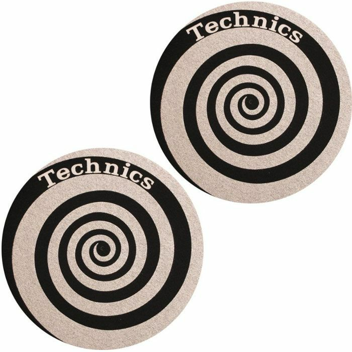 SLIPMAT FACTORY - Slipmat Factory Technics Spiral Slipmats (pair, black/silver)
