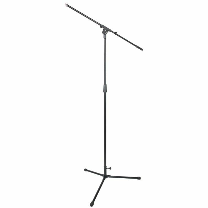 NEW JERSEY SOUND - New Jersey Sound Height Adjustable Steel Microphone Stand With Boom Arm (black)