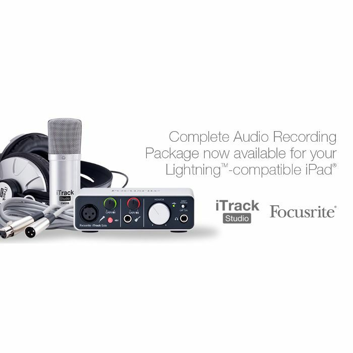 FOCUSRITE - Focusrite iTrack Studio Lightning Edition - Complete Recording Package For iPad/Mac/PC + Ableton Live Lite Audio Production Software