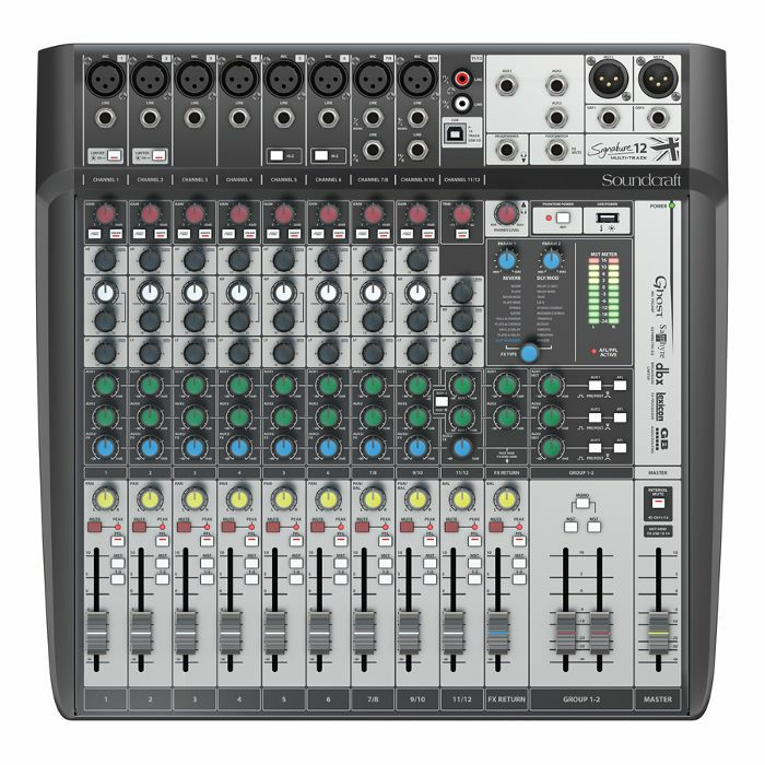 SOUNDCRAFT - Soundcraft Signature 12 MTK Analog Mixer With Onboard Effects & Multi Channel USB Audio Interface