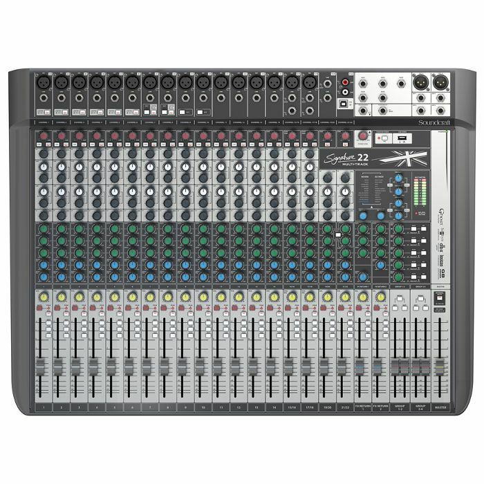 SOUNDCRAFT - Soundcraft Signature 22 MTK Analog Mixer With Onboard Effects & Multi Channel USB Audio Interface