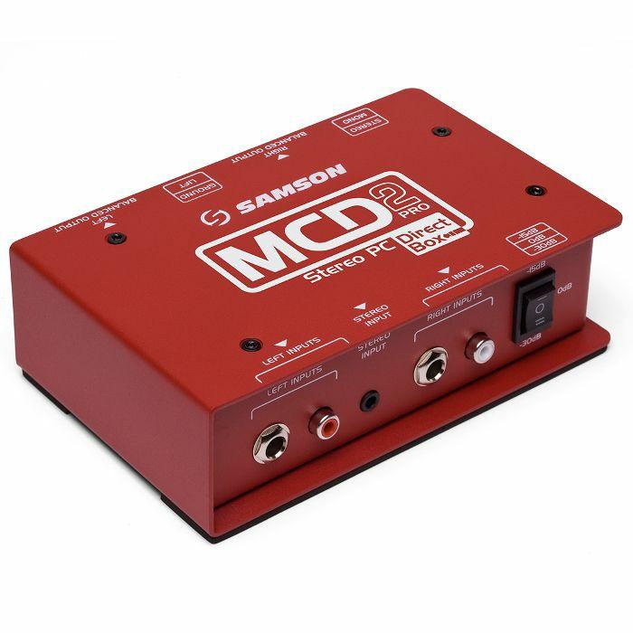 SAMSON - Samson SMax MCD2 Pro Professional Stereo Computer DJ Direct Box