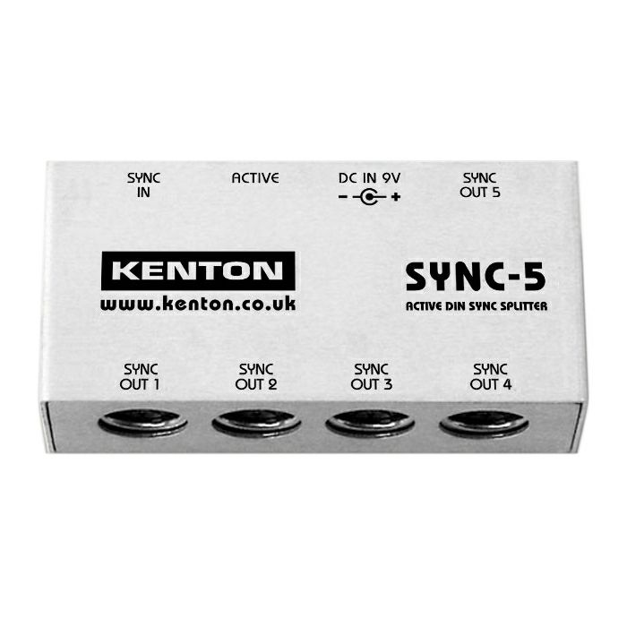 KENTON - Kenton SYNC5 1 DIN Sync In To 5 DIN Sync Outs Splitter *SUPPLIED WITH UK 3-PIN POWER ADAPTER ONLY*