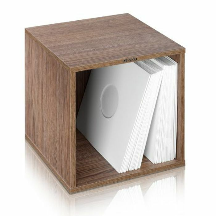 ZOMO - Zomo VSBox 12 Inch Vinyl Record Storage Box 100 (walnut, flat-packed)