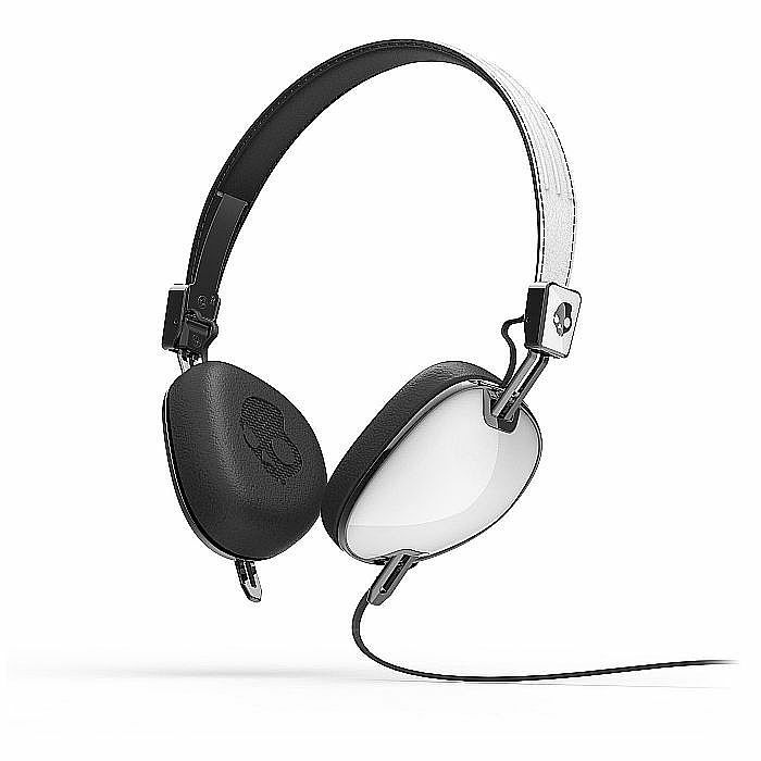 SKULLCANDY - Skullcandy Navigator Headphones with Mic (white, black) (B-STOCK)