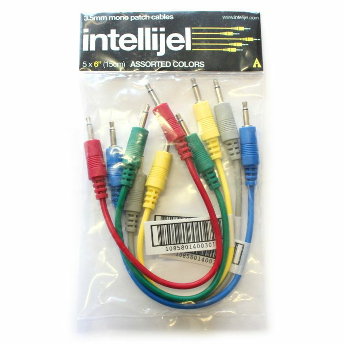 INTELLIJEL - Intellijel 3.5mm Jack Eurorack Modular Synth Patch Cables (pack of 5, 6