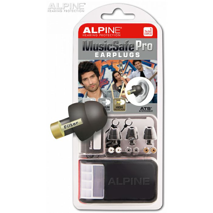 ALPINE - Alpine Musicsafe Pro Earplugs Hearing Protection System (black)