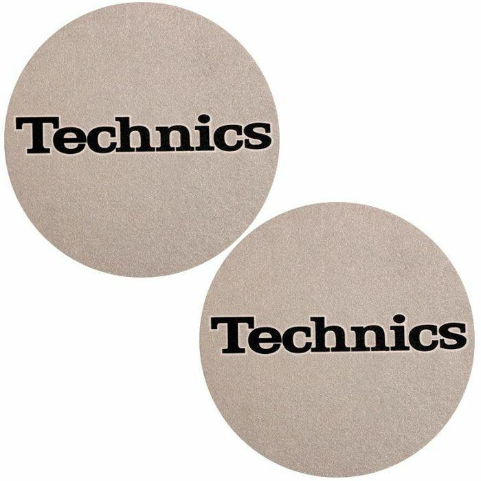 SLIPMAT FACTORY - Slipmat Factory Technics Logo Slipmats (pair, metallic silver)