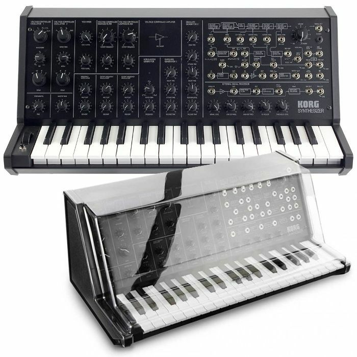 KORG/DECKSAVER - Korg MS20 Mini Monophonic Analog Synthesizer + FREE Decksaver Cover (smoked clear)
